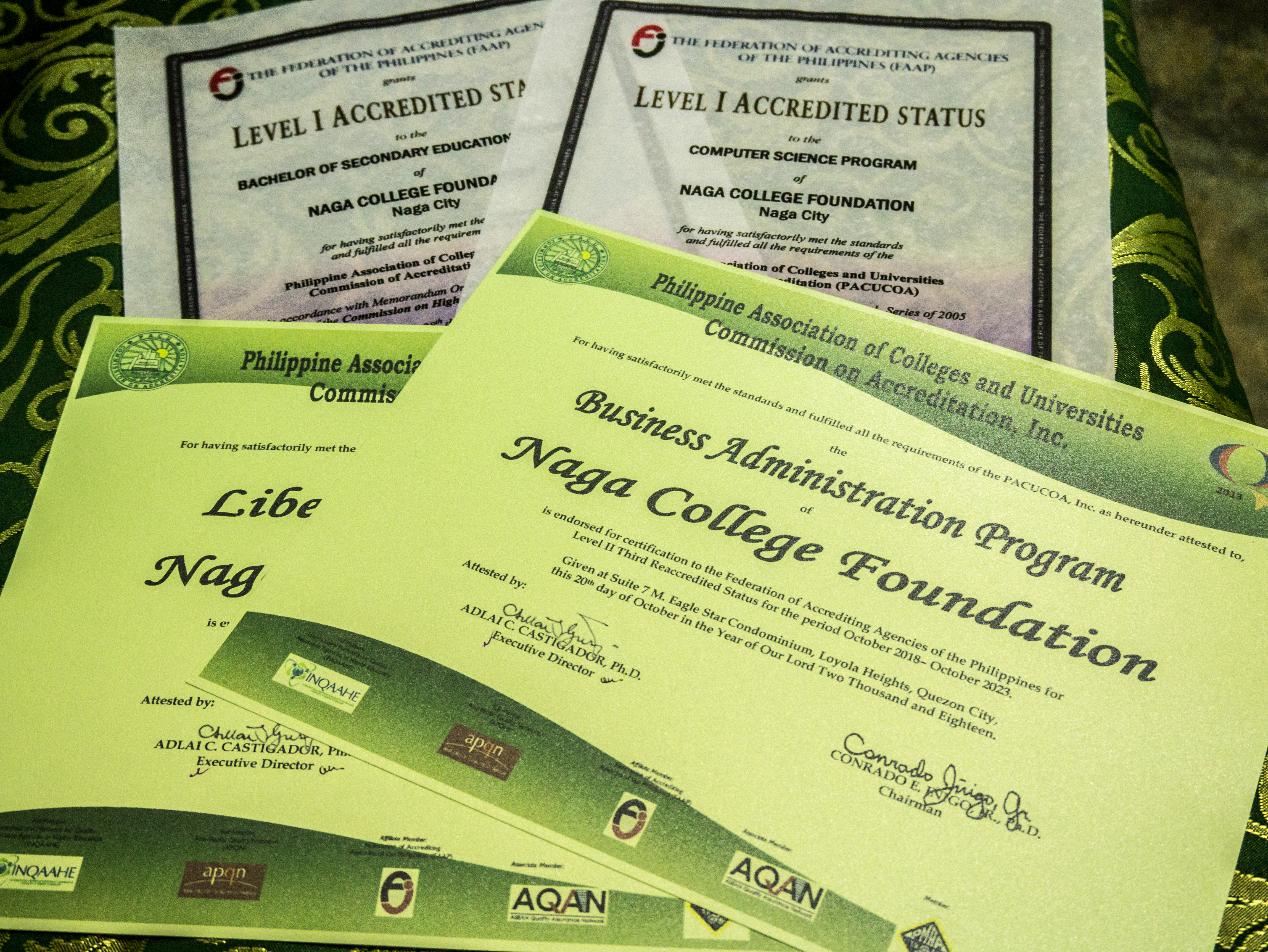 naga college foundation courses and programs